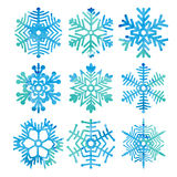 Snowflakes. Vector art Royalty Free Stock Image