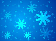 Snowflakes vector background Royalty Free Stock Photography