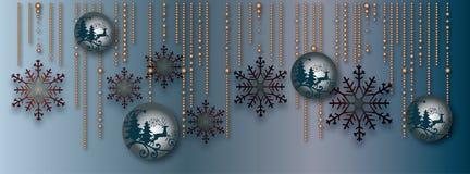Snowflakes. Vector christmas card with snowflakes Stock Photos