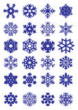 Snowflakes vector collection #1 Royalty Free Stock Photo