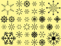 Snowflakes vector collection Royalty Free Stock Photos