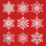 Snowflakes Vector Collection Royalty Free Stock Images