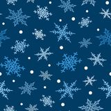 Snowflakes vector icons frozen frost star Christmas decoration snow winter flakes elemets Xmas holiday design Stock Photography