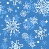 Snowflakes vector icons frozen frost star Christmas decoration snow winter flakes elemets Xmas holiday design Royalty Free Stock Photo