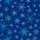 Snowflakes vector icons frozen frost star Christmas decoration snow winter flakes elemets Xmas holiday design Stock Image