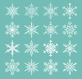 Snowflakes vector icons frozen frost star Christmas  Royalty Free Stock Photo