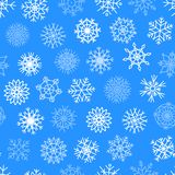 Snowflakes vector icons frozen star Christmas frost decoration icons snow winter flakes elemets Xmas holiday design Stock Photos