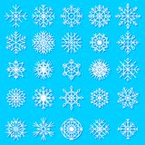 Snowflakes vector icons frozen star Christmas frost decoration icons snow winter flakes elemets Xmas holiday design Royalty Free Stock Photos
