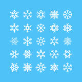 Snowflakes Vector Icons Set