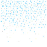 Snowflakes, vector illustration Stock Photo