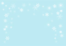 Snowflakes, vector illustration Royalty Free Stock Photos