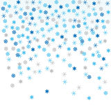 Snowflakes, vector illustration Stock Images