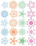 Snowflakes,vector illustration Royalty Free Stock Image