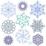 Snowflakes vector packs Stock Photos