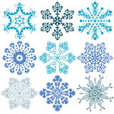 Snowflakes vector packs Royalty Free Stock Photos