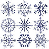 Snowflakes vector packs Stock Images