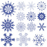 Snowflakes vector packs Stock Photography