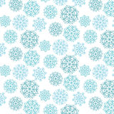 Snowflakes. Vector pattern with snowflakes on white background Stock Images