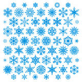 Snowflakes vector set Stock Photography