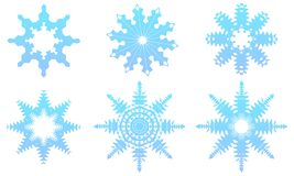Snowflakes Vector Set Royalty Free Stock Images