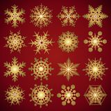 Snowflakes - vector set Royalty Free Stock Images