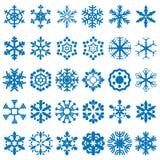 Snowflakes vector set Stock Photos