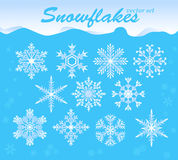 Snowflakes vector set Stock Images