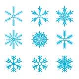 Snowflakes vector set. snow flake icon Royalty Free Stock Photography