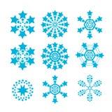 Snowflakes vector set. snow flake icon Stock Photo