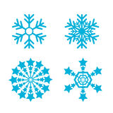 Snowflakes vector set. snow flake icon Royalty Free Stock Photography