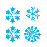 Snowflakes vector set. snow flake icon Royalty Free Stock Photos