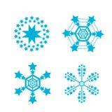 Snowflakes vector set. snow flake icon Royalty Free Stock Images