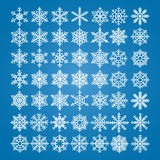 Snowflakes vector set. Vector pack of snowflakes design templates. Winter decoration elements Stock Images