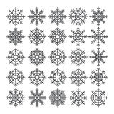 Snowflakes vector set. Vector pack of snowflakes design templates. Winter decoration elements Royalty Free Stock Photo