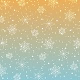 Snowflakes-07. Vector vintage colorful background. Snowflake vector. Christmas retro decoration royalty free illustration