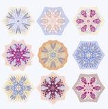 Snowflakes vektorillustration Arkivfoton