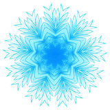 Snowflakes 10.11.16 ver 14. Vector illustration snowflake for Christmas and new year design. Abstract pattern for the ceiling outlet Stock Photography