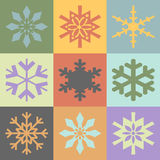 Snowflakes in vintage colors Stock Photography
