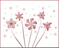 Snowflakes vintage vector Stock Image