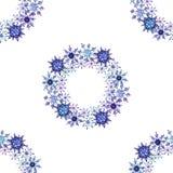 Snowflakes watercolor Χριστουγέννων άνευ ραφής σχέδιο διανυσματική απεικόνιση