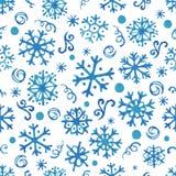 Snowflakes Watercolor Στοκ Φωτογραφία
