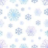 Snowflakes watercolor seamless winter pattern, christmas background. vector illustration vector illustration