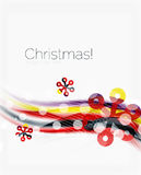 Snowflakes on wave line, Christmas and New Year background. Or greeting card Royalty Free Stock Images
