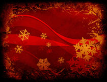 Snowflakes and waves vector illustration