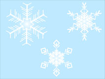Snowflakes white Stock Photos
