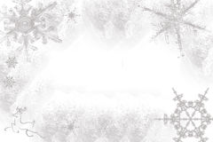 Snowflakes on a white background Royalty Free Stock Images