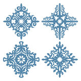 Snowflakes on white background. Royalty Free Stock Images