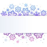 Snowflakes on white Christmas background Stock Images