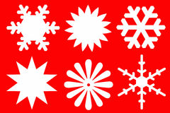 Snowflakes of white color. Stock Images