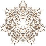 Snowflakes on a white Stock Photos